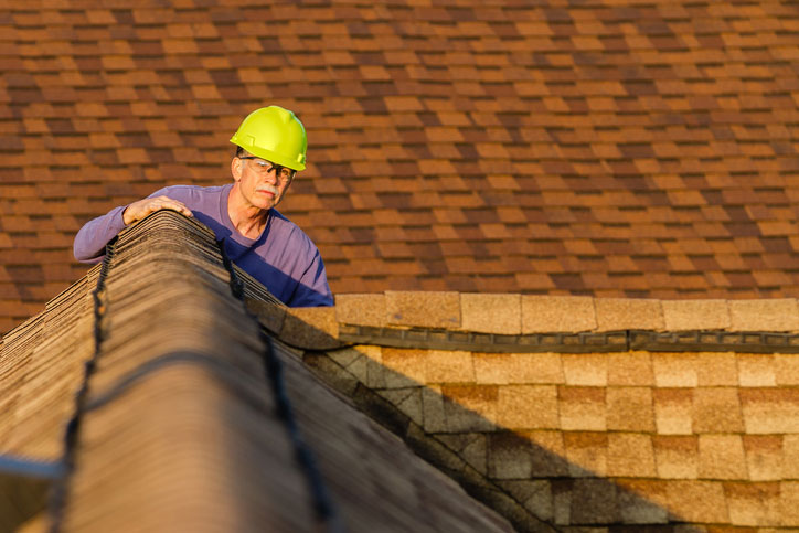 Home Inspector on the roof